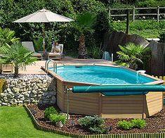 Half inbouw zwembad