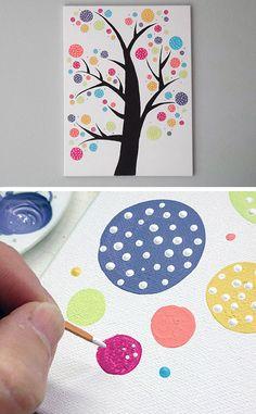 Polka Dot Circle Tree   Click for 25 DIY Nursery Decor Ideas   DIY Decorating Ideas for Toddlers Boys Room