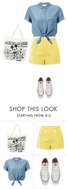 """""""Untitled #4306"""" by linda56draco ❤ liked on Polyvore featuring Disney, Boutique Moschino, Miss Selfridge and Converse"""