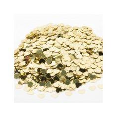 Guld hjerte konfetti