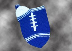 Indianapolis Colts Baby Football Cocoon & Hat (Newborn to 3 months) on Etsy, $36.00