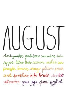august fruits and veggies