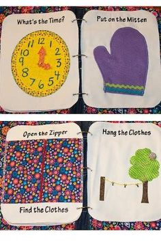 Quiet book ideas I loved making quiet books for my kids! Such a great learning tool for toddlers! by maryann