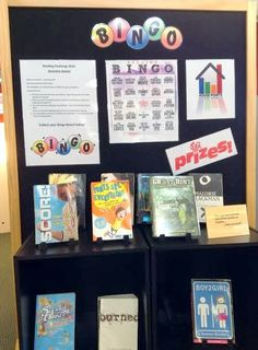 Library Displays: Bingo Reading Challenge!- This looks WAY fun!