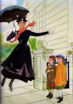 'The Art of Disney Golden Books' - Mary Poppins Walt Disney, Disney Theme, Disney Films, Disney Magic, Disney Pixar, Disney Characters, Mary Poppins 1964, Disney Parks Blog, Disney Kunst