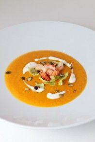 Kürbiscrèmesuppe mit Apfel | HighFoodality - Rezepte mit Bild