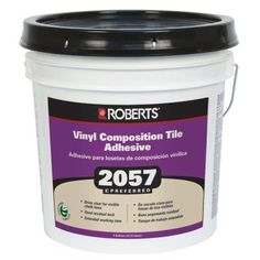 Roberts 4 Gal. Premium Vinyl Tile Glue Adhesive-2057-4 - The Home Depot