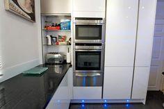 Open kitchen tambour unit