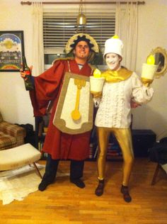 Lumiere and cogsworth