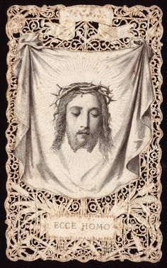 Holy Card Heaven Catholic Art, Roman Catholic, Religious Art, Religious Pictures, Jesus Pictures, Christian Images, Christian Art, St Veronica, Vintage Holy Cards