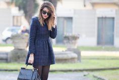 OUTFIT ABITO ELEGANTE E STIVALETTI ROCK - fashion blogger