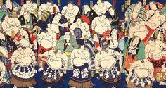 なんと総勢97名!江戸時代の大相撲力士を紹介した浮世絵「大日本大相撲勇力関取鏡」が見応えアリ | ガジェット通信
