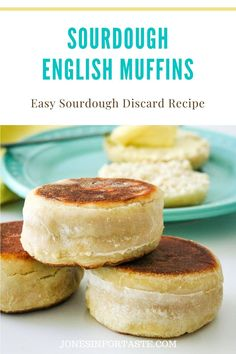 Sourdough English Muffins are a delicious use for sourdough starter discard removed when feeding and easy enough for novice bread makers. Sourdough English Muffins, Homemade English Muffins, Sourdough Pancakes, Sourdough Recipes, Sourdough Bread, Bread Recipes, Starter Recipes, Rye Bread, Sourdough Starter Discard Recipe