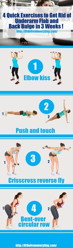 4 Quick Exercises to Get Rid of Underarm Flab and Back Bulge in 3 Weeks !