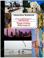 Interactive Notebook - Texas History @ FSMS, scroll to bottom of page and click on link