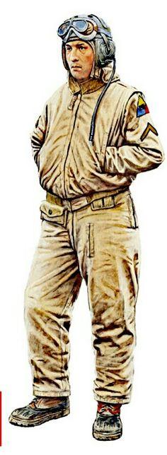 U.S. Army WWII, tank crew member, pin by Paolo Marzioli