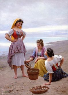 The Athenaeum - The Clam Diggers Eugene de Blaas - Date unknown Private collection Painting - oil on canvas Height: 103.5 cm (40.75 in.), Width: 74.6 cm (29.37 in.)