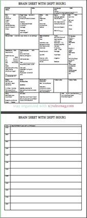 Nurse-Brain-Sheet-with-Shift-Hours, these would have been amazing when I worked in the hospital.