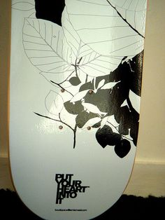 Black & White Autumn Skateboard by WILLPOWER STUDIOS | WILLIAM ISMAEL | www.WillpowerStudios.com