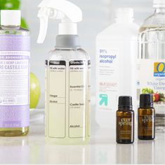 Go #toxicfree this year for your health! The Prep Works Mix n' Clean spray bottle includes 5, non-toxic #DIY recipes that can be made with simple home ingredients and work for all types of kitchen surfaces. Kitchen Necessities, Castile Soap, Plastic Waste, Simple House, Plastic Bottles, Spray Bottle, Alcohol, Cleaning, Health