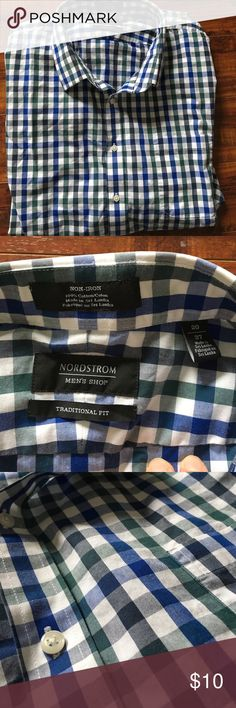 Nordstrom men's dress shirt Great condition. Non iron traditional fit. 20/37 Nordstrom Shirts Dress Shirts