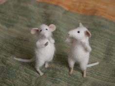 Two Young Mice by Natasha Fadeeva. Every house should have mice like these!