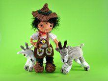 Puppe Peter mit Ziege Amigurumi Häkelanleitung