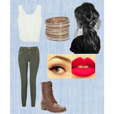 A fashion look from September 2013 featuring eighteenth tops, J Brand jeans and Rampage ankle booties. Browse and shop related looks.