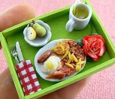 Super tiny food made from clay