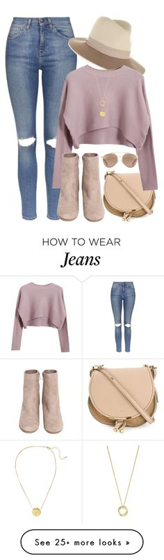 """What I'd Wear"" by monmondefou on Polyvore featuring Topshop, rag & bone, Chloé, Chicnova Fashion, Christian Dior, H&M, John Hardy, Fall and rose"