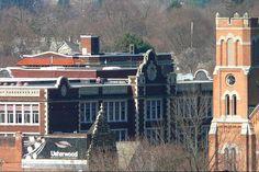 Binghamton Central High School and church