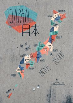 Map of Japan by Soraya Santamaria #map #japan