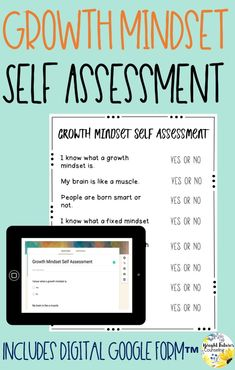 Collect data in your school counseling groups and individual sessions by using this growth mindset self-assessment. Self-assessments are a great way to determine student growth! Forms available in both hardcopy and digital version. Elementary School Counselor, School Counseling, Elementary Schools, Social Skills Activities, Counseling Activities, Student Self Assessment, Self Advocacy, Social Emotional Learning, Growth Mindset