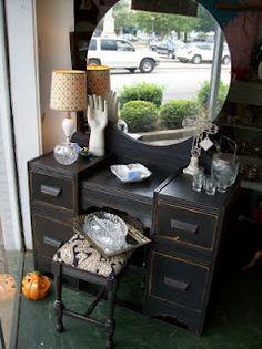 Art Deco Black Vanity Bedrooms S Bedroom Ideas Desk