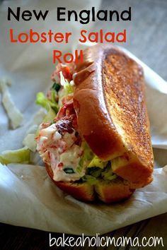 Bakeaholic Mama: New England Lobster Salad Roll sandwiches Soup And Sandwich, Sandwich Recipes, Fish Recipes, Seafood Recipes, Great Recipes, Cooking Recipes, Favorite Recipes, Top Recipes, Lobster Sandwich