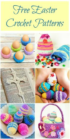 I am ready to say goodbye to these cold dark winter days and hello to the Spring! So today I have a fun Springy Easter basket crochet pattern for you ... a pretty flower basket to add a little color to your days or to decorate for Easter baskets for your little loves. (You can find the Easter egg pattern here.)