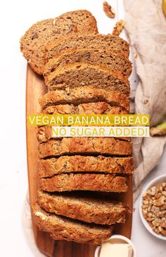 Hypoallergenic Pet Dog Food Items Diet Program This Healthy Vegan Banana Bread Is Sweetened Naturally With Dates And Bananas For A Delicious, Moist, And Healthy Morning Or Midday Sweet Bread. Set up This Easy Quick Bread Recipe In Just 10 Minutes. Vegan Baking Recipes, Quick Bread Recipes, Vegan Dessert Recipes, Banana Bread Recipes, Vegan Sweets, Dinner Recipes, Bananas, Easy Holiday Recipes, Healthy Banana Bread