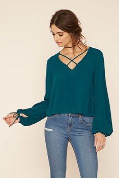 Contemporary Crisscross Top