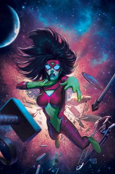 Spider-Woman: Lost// artwork by Jorge Molina Manzanero(2013) Cover art for Avengers Assamble #18