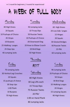 Daily Full body workout