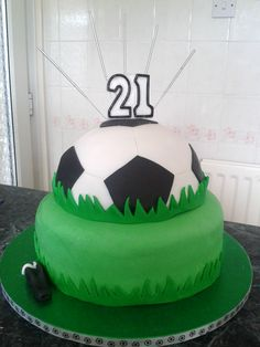 Football cake by Kim Hall