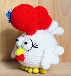 Crochet rooster (amigurumi rooster) - free crochet pattern // Amigurumi kakas (horgolt kakas) - ingyenes horgolásminta // Mindy - craft tutorial collection // #crafts #DIY #craftTutorial #tutorial