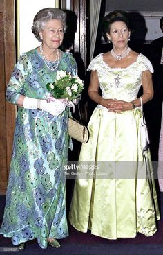 The Queen And Princess Margaret Attending A Concert At The Royal College Of Music.