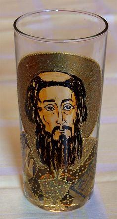 Sv. Sava Glass painting Mirjana Selena