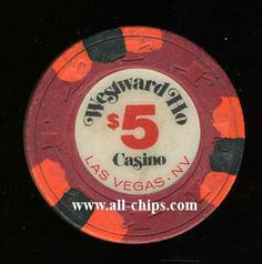 Las Vegas Casino Chip of the Day is a $5 Westward Ho Chip.  Pretty hard to come by Here is 1 http://www.all-chips.com/ChipDetail.php?ChipID=15379