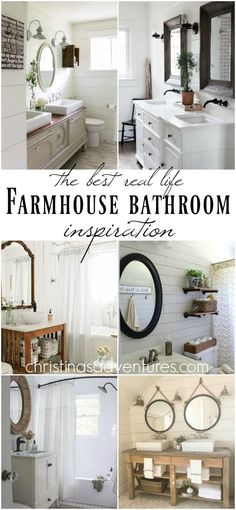 the BEST farmhouse bathroom ideas for your home - such great inspirational real-life ideas!