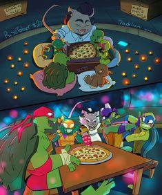 Ninja Turtles Art, Cute Turtles, Teenage Mutant Ninja Turtles, Tortugas Ninja Leonardo, Tmnt Comics, Tmnt 2012, Cartoon Crossovers, Dc Movies, Anime Art Girl