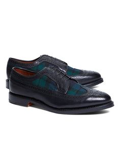 Leather and Wool Brogues - Brooks Brothers These are pretty!