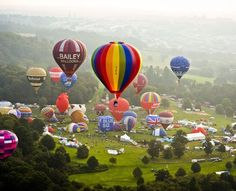 The daily mass ascents provided a unique way to see hot air balloons take off, it's not everyday you see 120 balloons take over together over Bristol. Photo By: Ben Birchall/PA Wire. Bristol International Balloon Fiesta 2013.The Fiesta is 38 years old and is the largest hot air balloon meeting in Europe and the second biggest in the world. To help you make the most of your visit – here are few pointers to help you on your way. www.bristolballoonfiesta.co.uk
