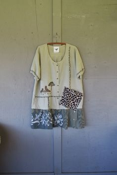 1 X 2 X plus size upcycled tunic dress / Eco by lillienoradrygoods